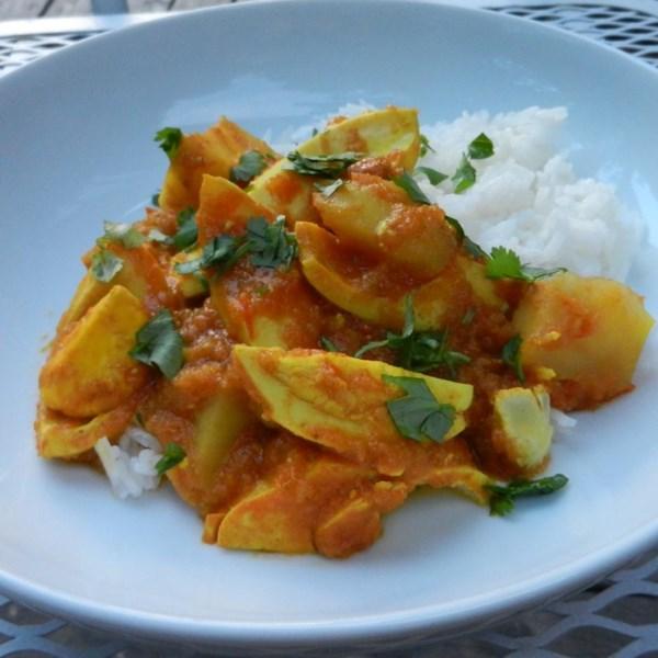Receita de Ovo e Batata Curry
