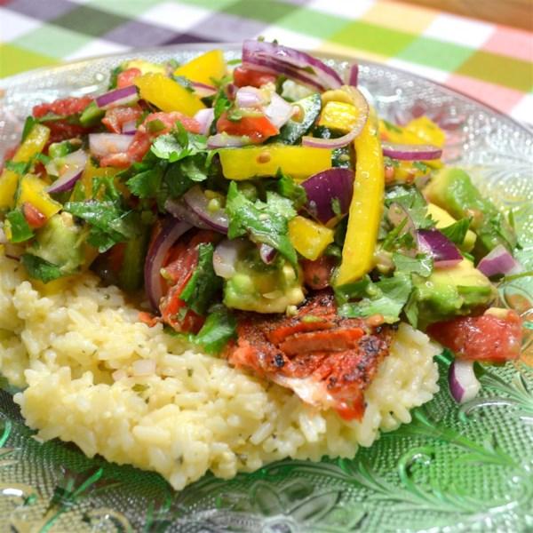 Receita de Abacate, Tomate e Salsa de Manga