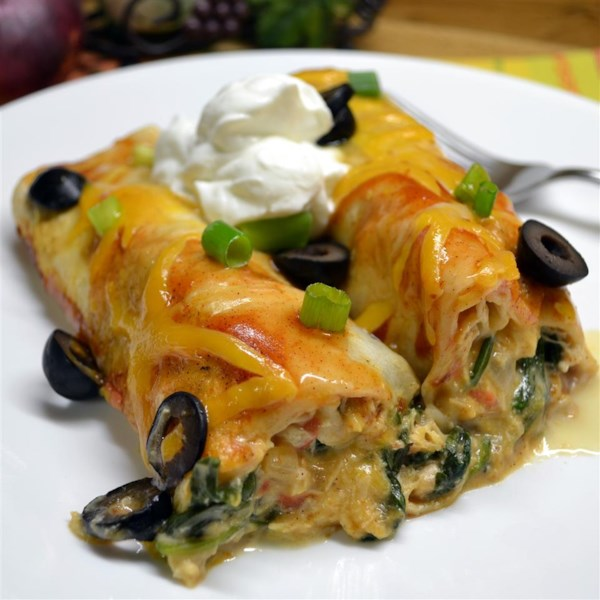 Receita de Enchiladas de Espinafre e Frango