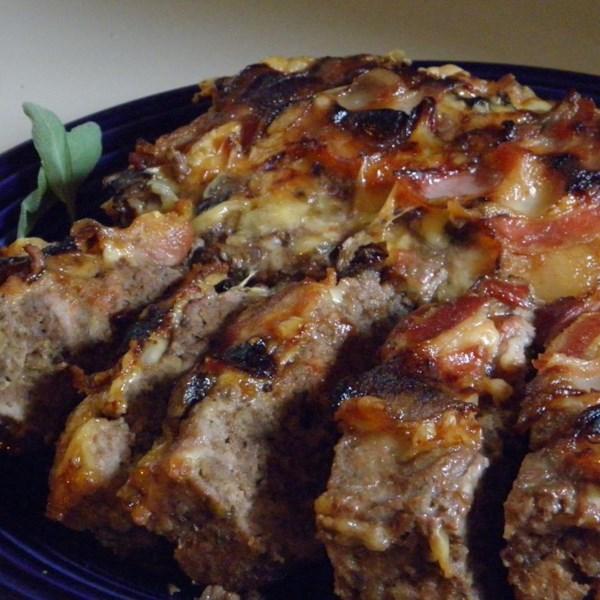 Receita de Bolo de Carne de Cogumelo Embrulhado de Bacon