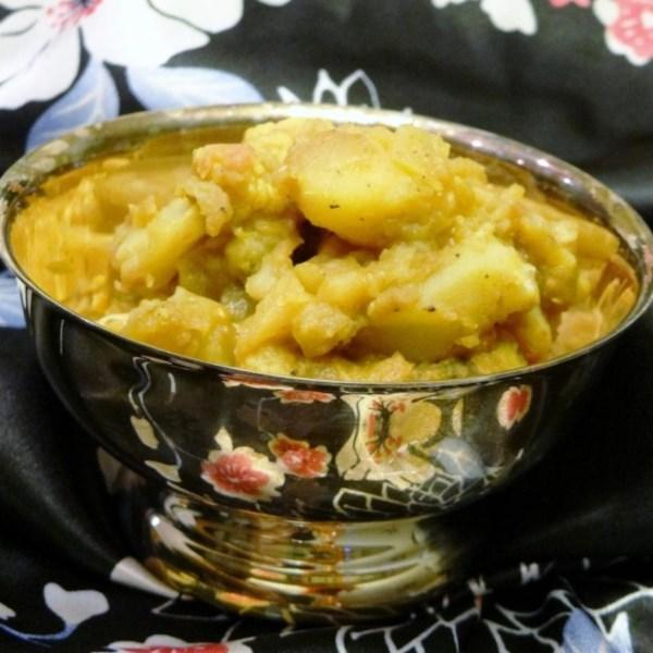 Receita de Batatas Madras
