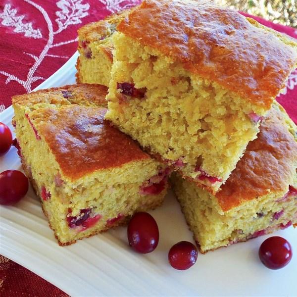 Receita de Pão de Milho de Cranberry