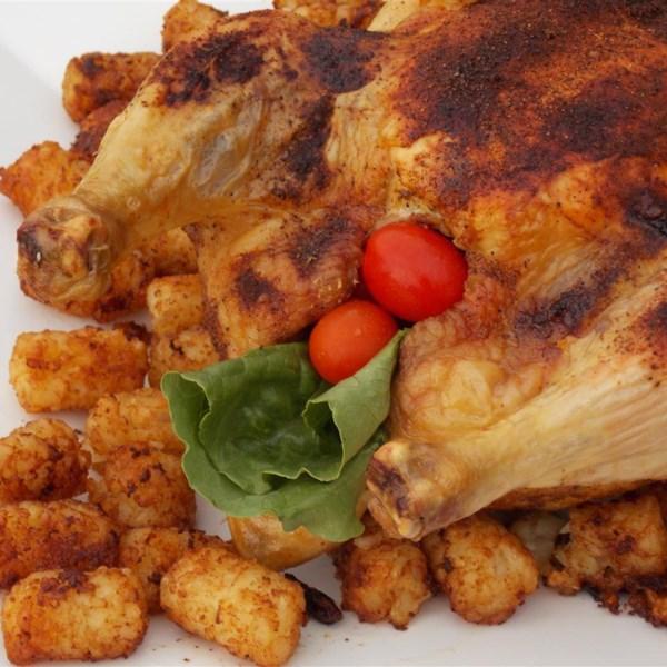 Frango assado com receita de pasta de curry