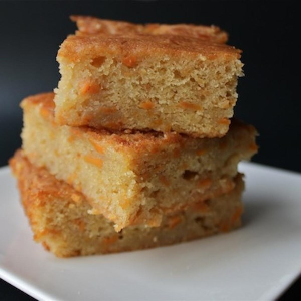 Receita de Brownies de Inhame Dourado