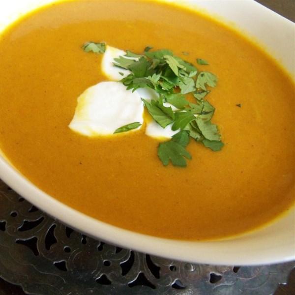 Receita de Sopa de Curry de Cenoura Vegana