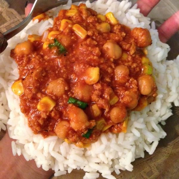 Receita de Chili curry de coco