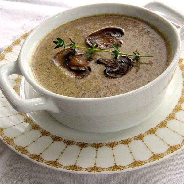 Receita de Sopa cremosa de cogumelo do chef John