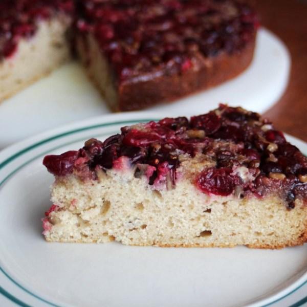 Receita de bolo de café de cabeça para baixo de cranberry