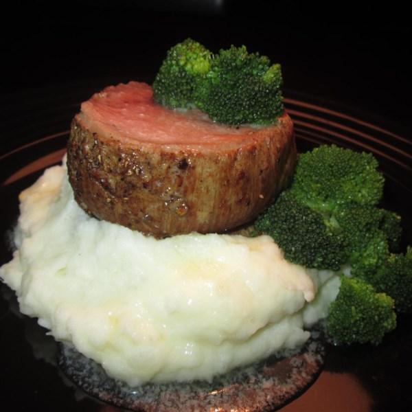 Lombo de Carne Assada Pan com Receita de Manteiga Marrom Ginger-Shiitake