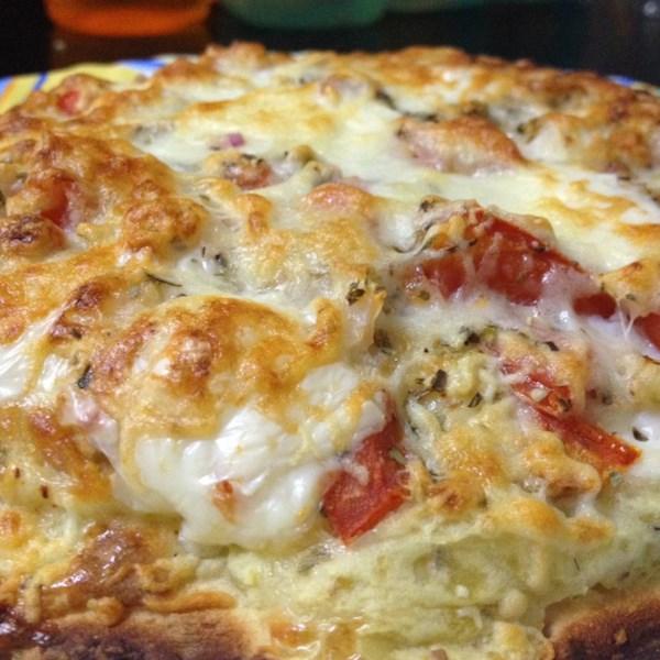 Receita de Pizza de Café da Manhã Cheesy