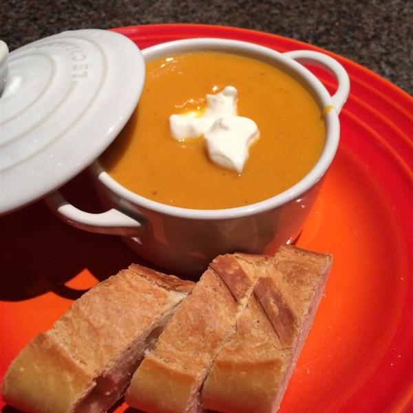 Receita de Cenoura Rockin, Batata Doce e Sopa de Gengibre