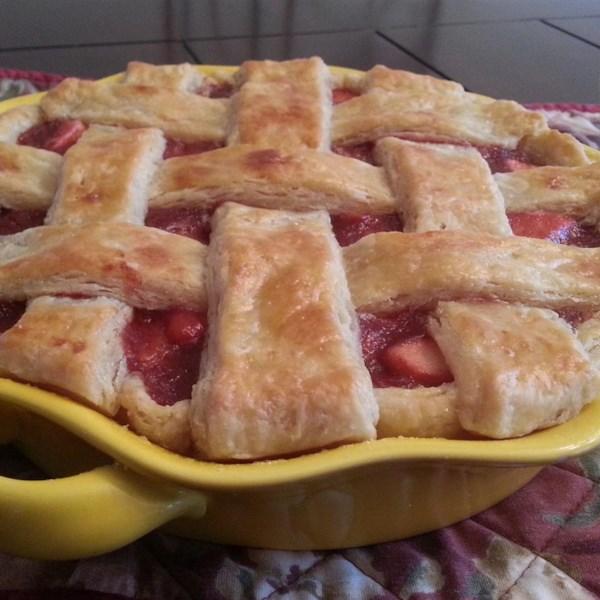 Receita de Torta de Cranberry de Maçã Caramelo