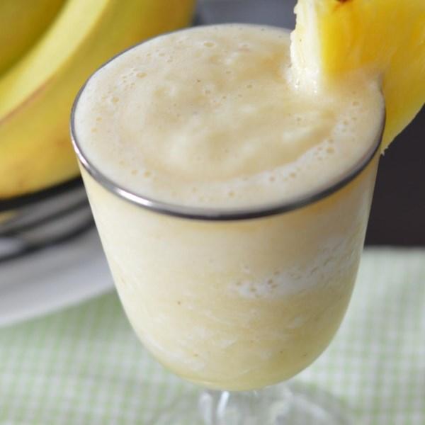 Receita de Smoothie de Abacaxi e Banana