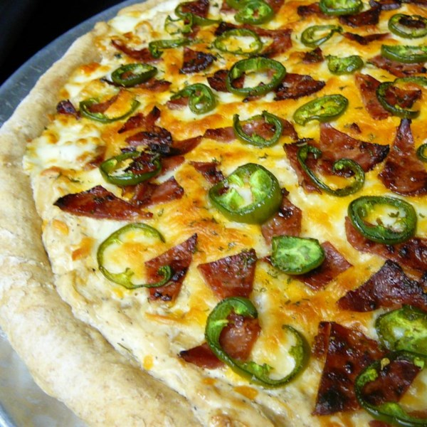 Receita de Pizza Jalapeno Popper de Jan