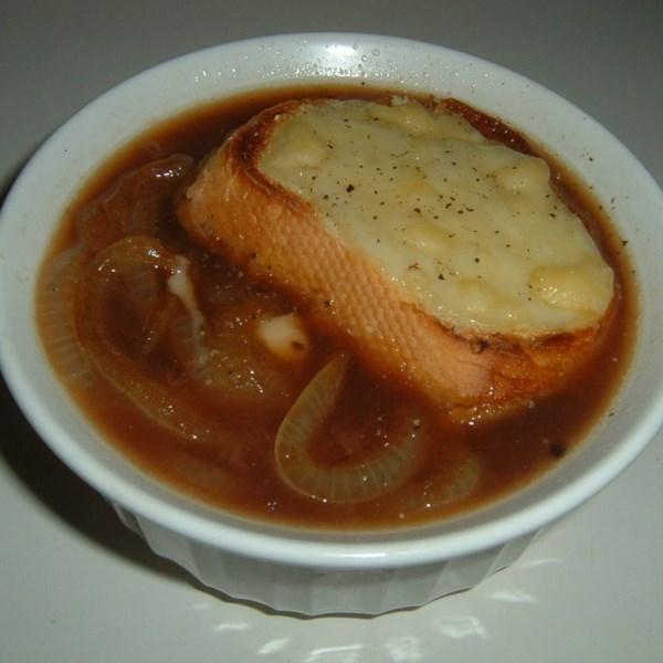 Receita de Sopa de Cebola Francesa de Lance