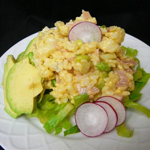Receita de Salada de Arroz e Presunto