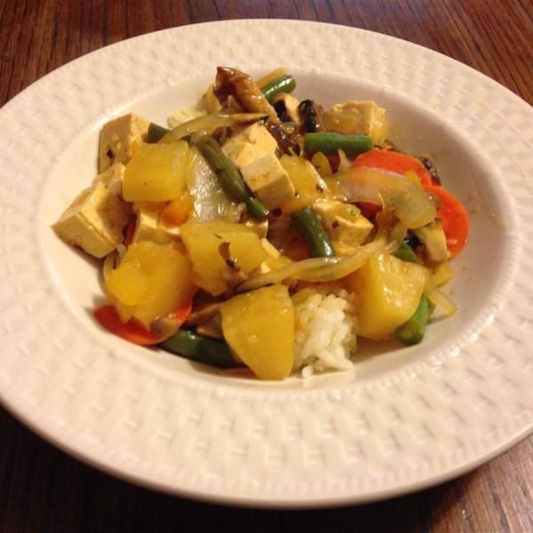 Receita de Legumes de Tofu Doce e Azedo