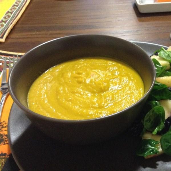 Receita de Sopa de Cenoura Assada e Couve-Flor