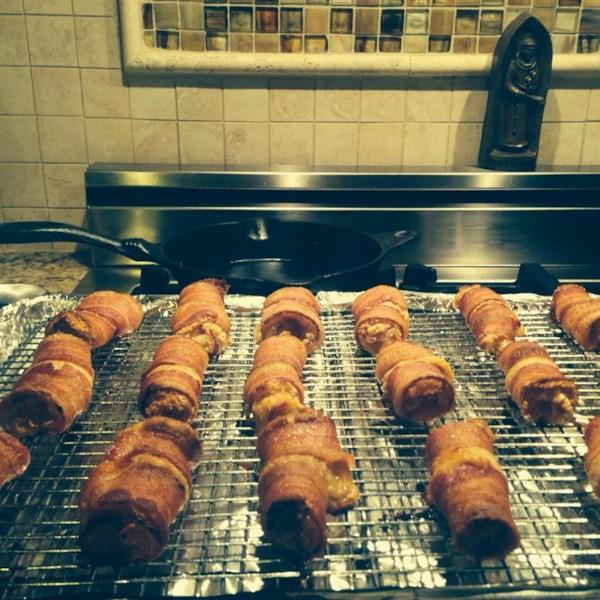 Receita de Envoltórios de Bacon Doce e Salgado
