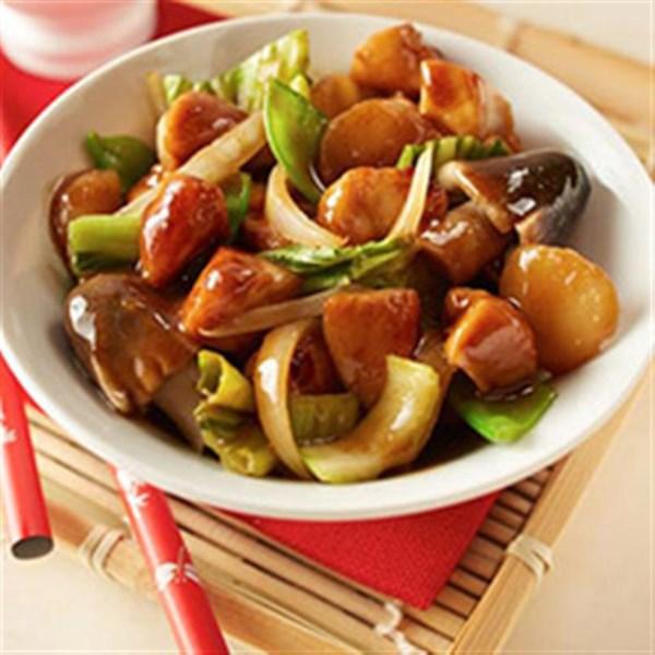 Receita asiática de fritura bok choy