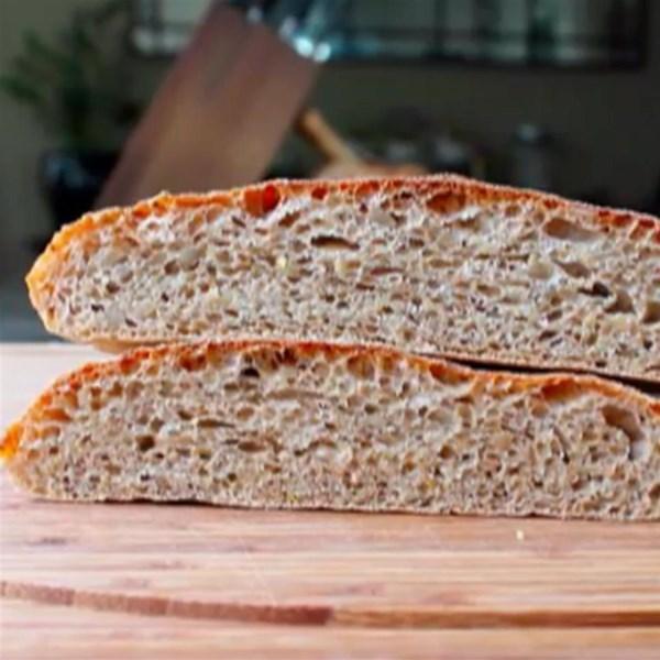 Receita ciabatta de trigo integral do chef John