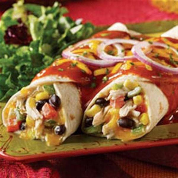 Fiesta Chicken e Black Bean Enchiladas da Receita Mission(R)