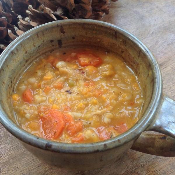 Sopa de Cevada de Frango com Receita de Batata Doce