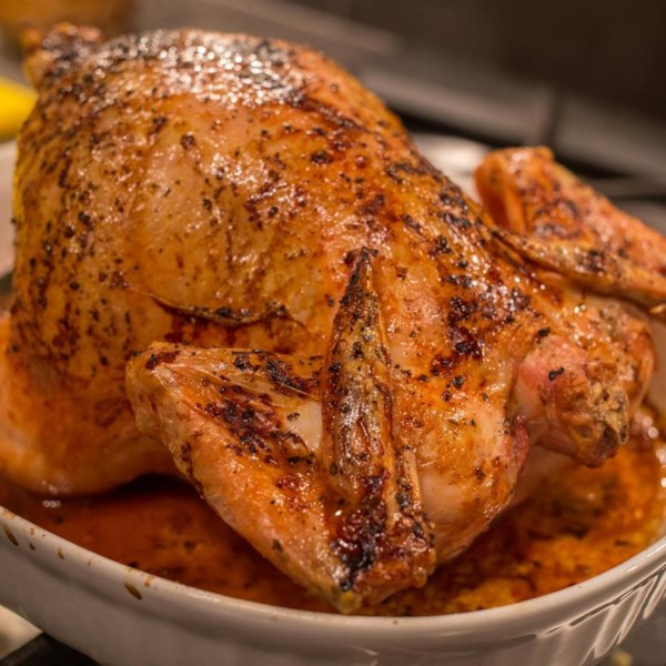 Receita simples de frango assado integral