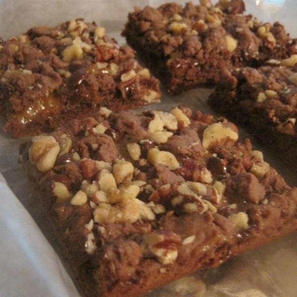 Receita de Brownies de Caramelo