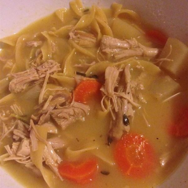 Receita de Sopa de Macarrão de Frango de Gengibre