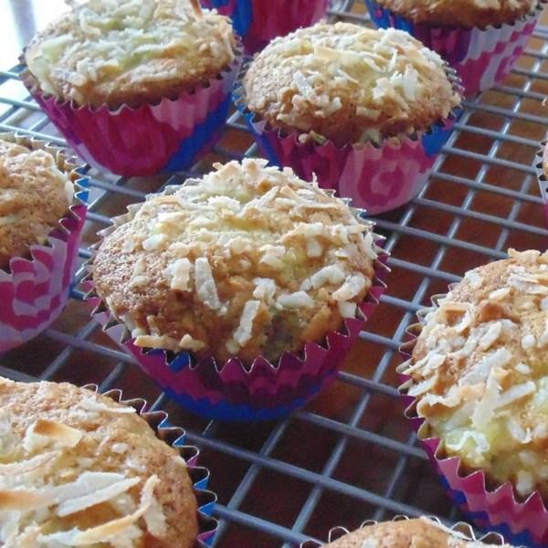 Receita simples de Muffins Pina Colada