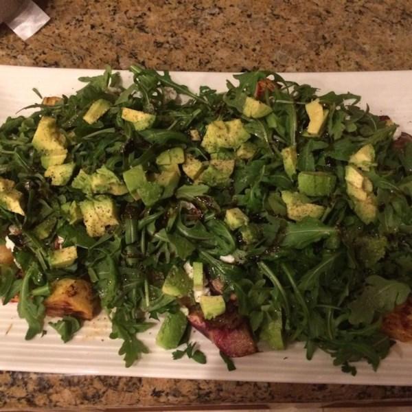 Receita de Salada de Gorgonzola de Frutas Grelhadas