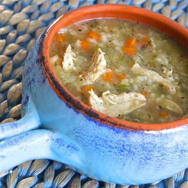 Receita de Frango com Tarragon e Sopa de Arroz