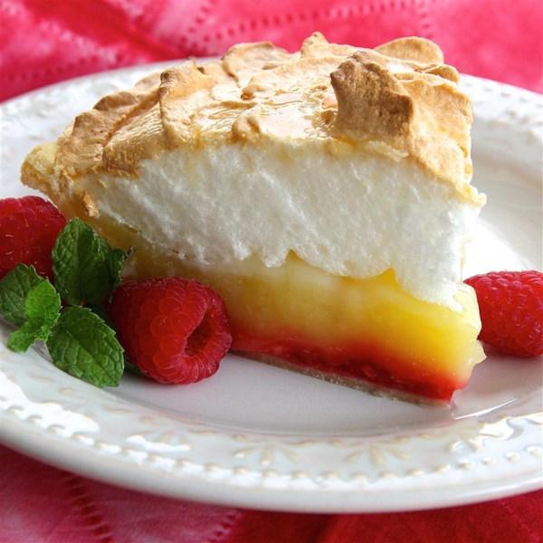 Receita de Torta de Merengue de Limão de Framboesa