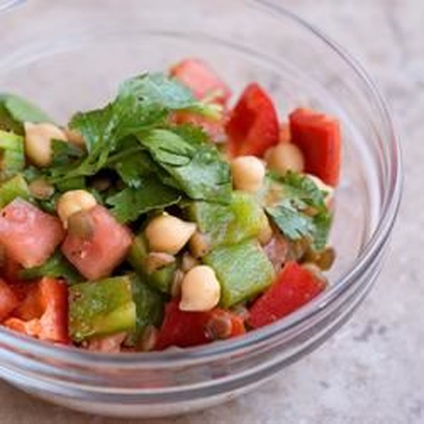Receita de Salada de Lentilha Marroquina