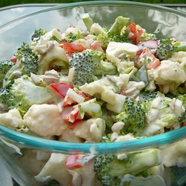 Receita de Salada de Pepita de Couve-Flor de Brócolis