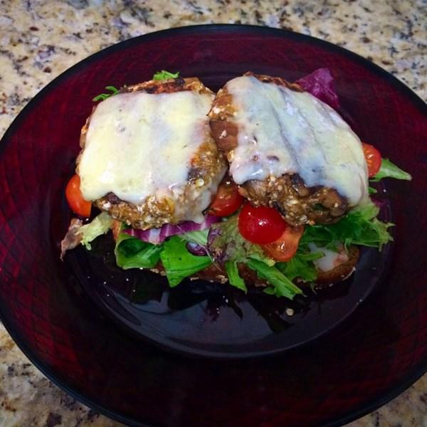 Receita de Hambúrguer vegetariano de cogumelo