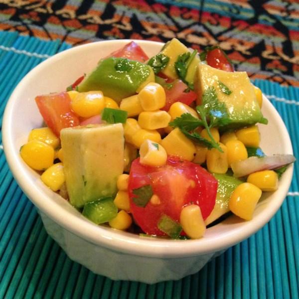 Salada de Milho com Receita de Vinagrete de Limão
