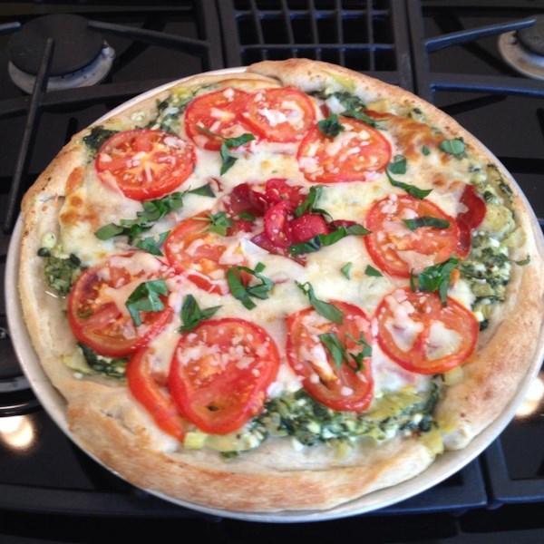 Receita de Pizza Vermelha, Branca e Verde