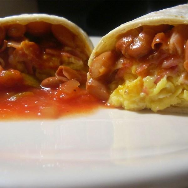 Receita de Burritos de Café da Manhã