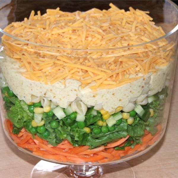 Receita de Salada de Sete Camadas Apimentada Inglesa