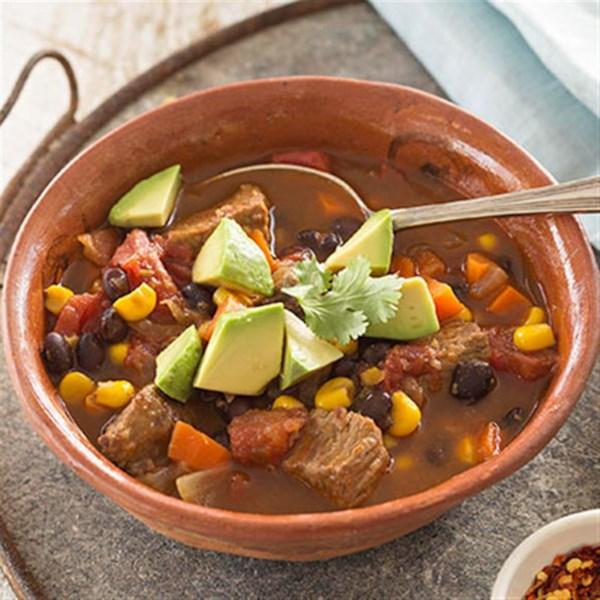 Receita de Guisado de Carne Mexicana de Panela Lenta
