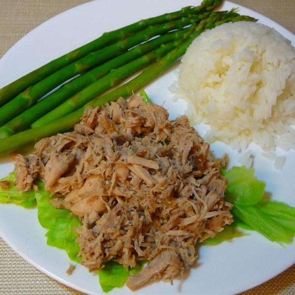 Homestyle Kalua Porco com Repolho em uma Receita de Panela Lenta