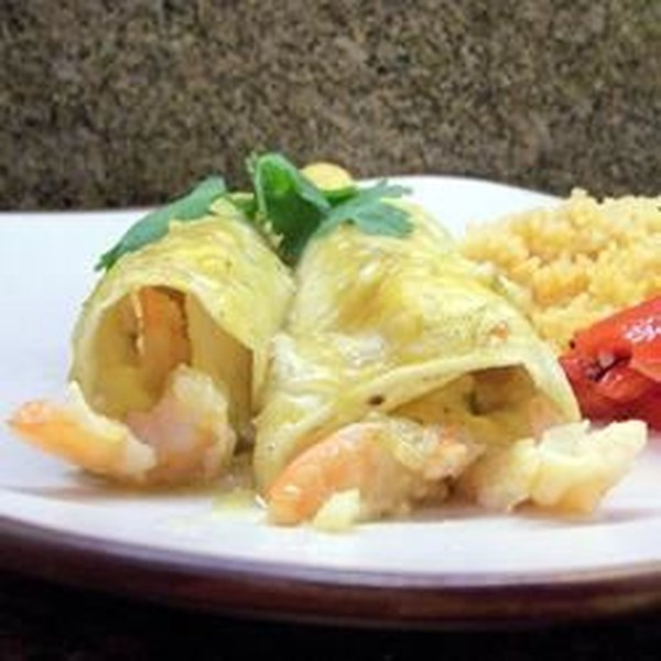 Receita de Camarão e Caranguejo Enchiladas