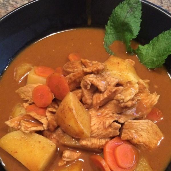 Receita de Curry de Frango Amarelo Tailandês