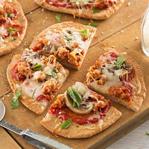 Receita de Pizza de Cogumelo de Salsicha