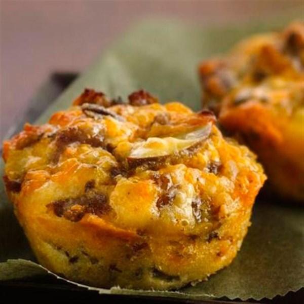 Receita de Tortas de Salsicha mini fácil impossivelmente fácil