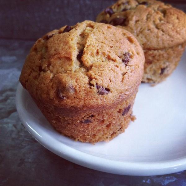 Receita de Muffins de Banana chip de chocolate mocha