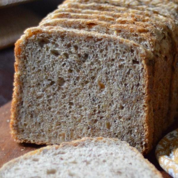Receita de Pão de Sementes de Linho e Girassol