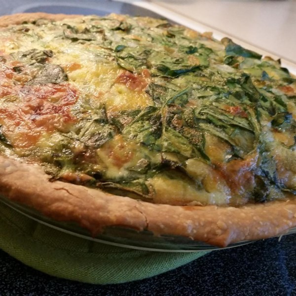 Receita de Quiche de Espinafre do Chile Verde